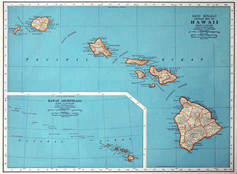 map of hawaii 1937 vintage map of hawaii