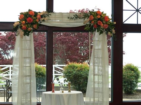 Wedding Arbor Fabric by Wedding Arbor Draped With Fabric Ceremony