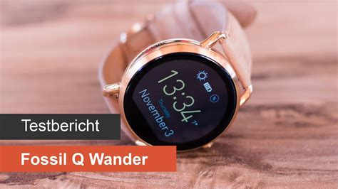 fossil q wander im test on