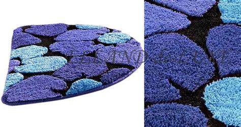teppich halbrund 1 st duschvorleger 50x80 blau schwarz halbrund badteppich