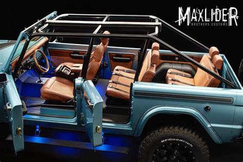 ford bronco 2017 4 door maxlider s 4 door 1966 ford bronco an inside look