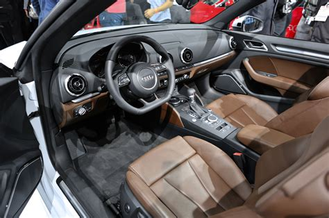 Audi A3 Interior by Audi A3 Cabrio Makes Official Debut At Los Angeles Show
