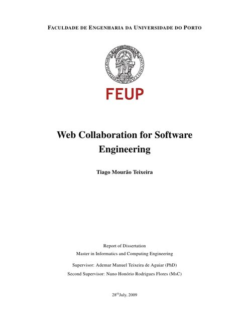 msc dissertation exles web collaboration for software engineering msc thesis