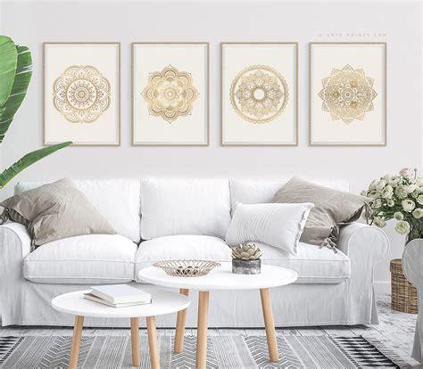 large wall art set   mandala art printable wall art