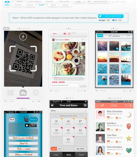 ui design pattern mobile collection of mobile design patterns for app ideas psd