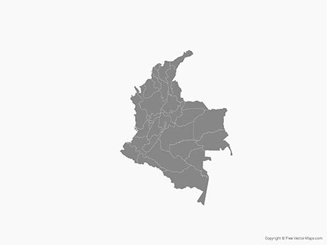 colombia vector map vector map of colombia with regions single color free