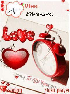 mobile themes love clock download love clock nokia theme mobile toones