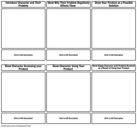 character description template ks1 5 storyboard templates marketing storyboard exles