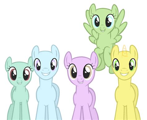 five ponies mlp base mlp base 39 cute pony group by easterbases on deviantart
