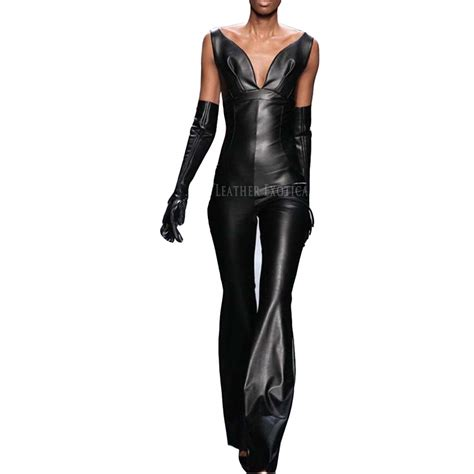 cool stylish leather jumpsuits  women leatherexotica