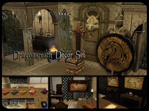skyrim home decor skyrim inspired decor set by murfeel top 10 sims