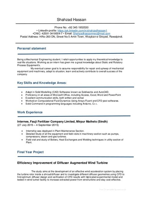 cv template download reed cv