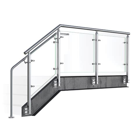 handrail design icon view cube glass railing system viva railings llc caddetails