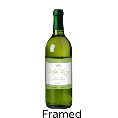 personalised bottle of white wine buy from prezzybox com