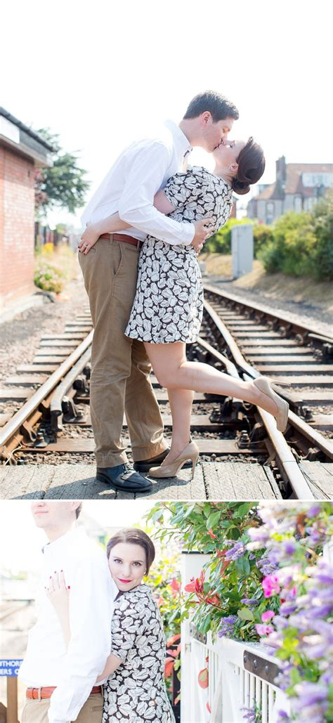 Vintage Wedding Hair Norfolk by A 40s Inspired Engagement Shoot At Sheringham Station