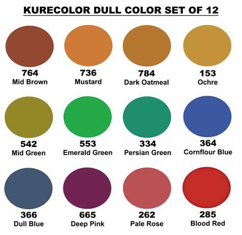 dull colors zig kurecolor s dull colors set of 12