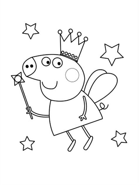 peppa pig princess coloring pages peppa pig the good fairy coloring page coloring sky
