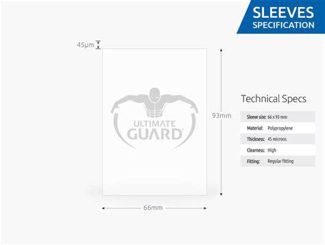 Ultimate Guard Classic Soft Sleeves Mtg 100pcs classic soft sleeves standard transparent clear 100