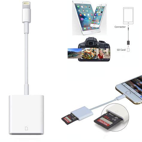 lightning  sd card camera memory reader adapter