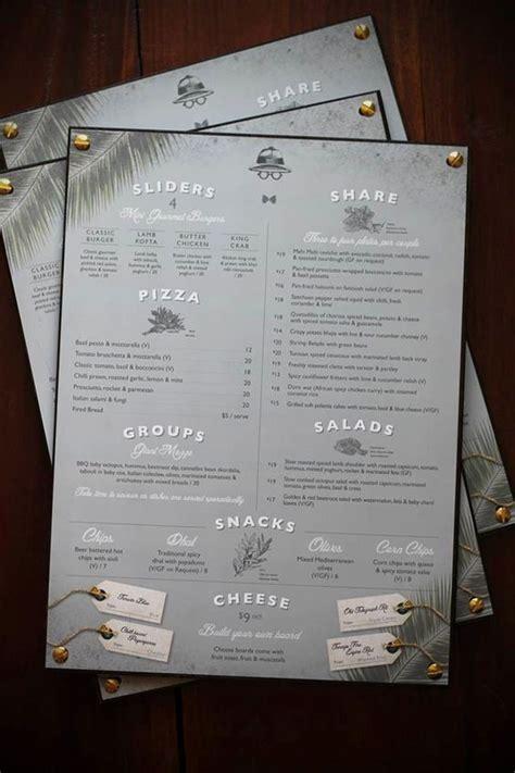 beautiful menu botanist photo 021 35 beautiful restaurant menu designs