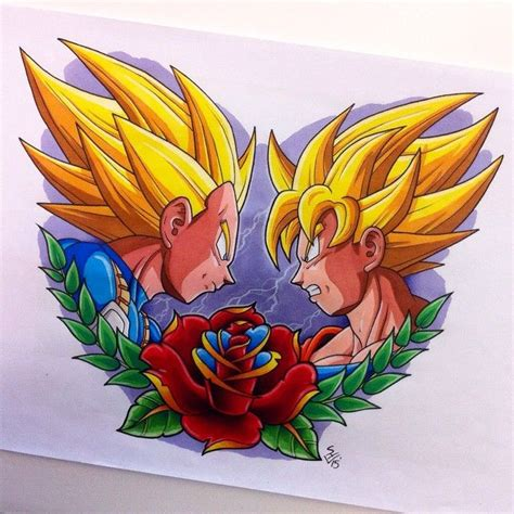 goku tattoo designs vegeta vs goku design by hamdoggz deviantart on