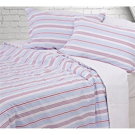 Red And Blue Duvet Covers Design Port Cornwall Red And Blue Striped Pure Cotton
