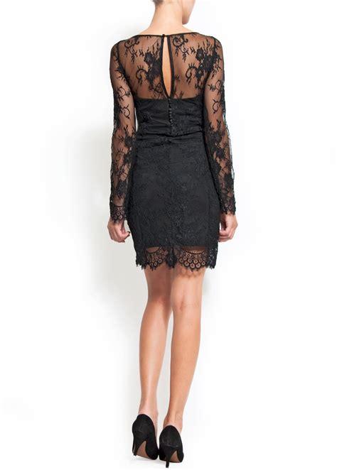 Preloved Dress Mango 2 mango lace dress in black lyst