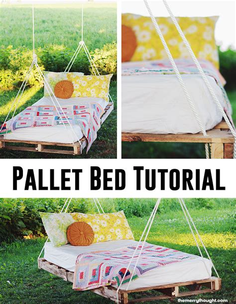 how to build a bed swing how to make a pallet bed swing andrea s notebook
