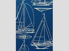 Blue and White Nautical Rope Pattern Rug Light Blue Anchor Wallpaper