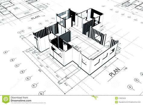 home plot plan stock images image 27823434