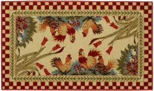 rooster checkered non skid 18 quot x 30 quot kitchen mat rubber