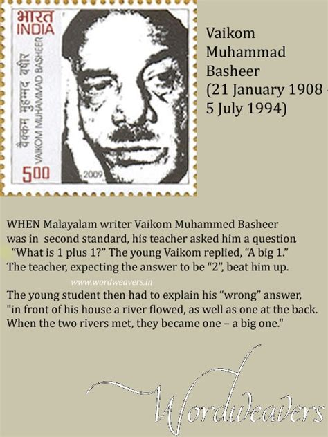 biography of vaikom muhammad basheer in malayalam language pin by wordweavers india ezine on indian writers in