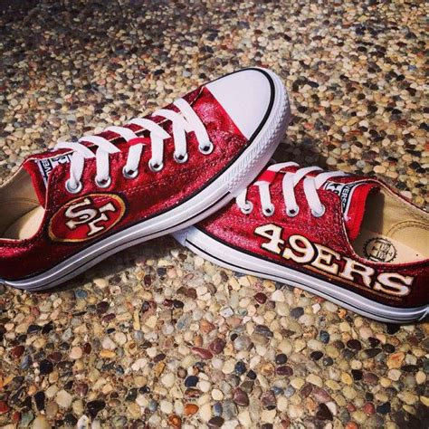 49ers shoes custom painted san francisco 49ers converse shoes