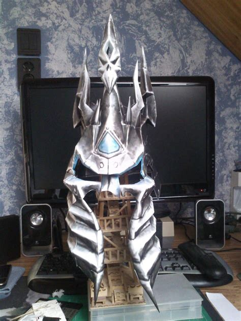 Wow Papercraft - lich king helmet papercraft by totya0108 on deviantart