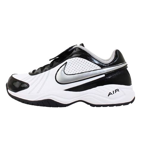 nike air trainer white black mens baseball shoes