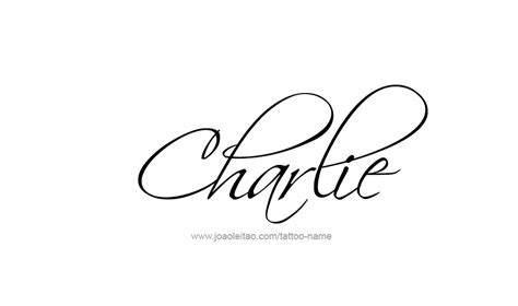charlie tattoo name designs