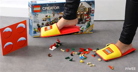 lego slippers for lego made cushy slippers for preventing brick
