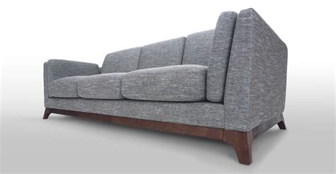 gray mid century sofa gray sofa 3 seater with solid wood legs article ceni