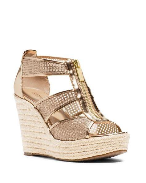 michael kors gold wedge sandals michael michael kors damita espadrille wedge sandals in