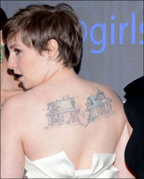 lena dunham tattoo ink knee tattoos for