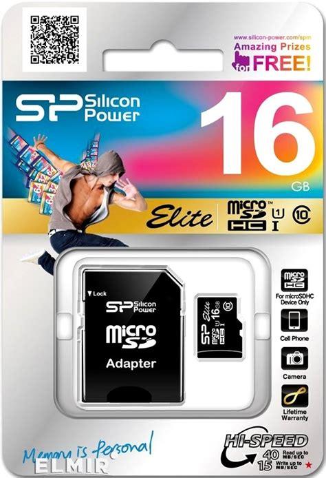 Silicon Power Elite Sdhc 16gb micro sdhc 16gb silicon power uhs i elite