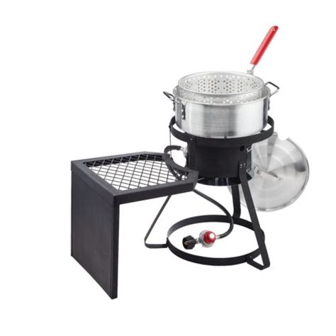 backyard turkey fryer outdoor gourmet pro 10 qt fish fryer set wit with side