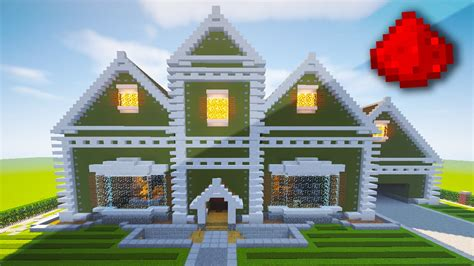 minecraft redstone house maps realistic redstone house fully function redstone house minecraft maps youtube