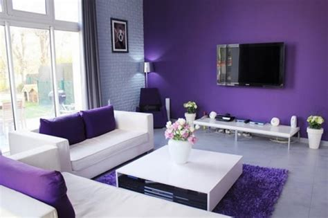purple and living room simple ideas for purple room design house experience