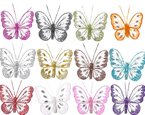 butterfly decorations for home small butterfly decorations with glitter diamante detail