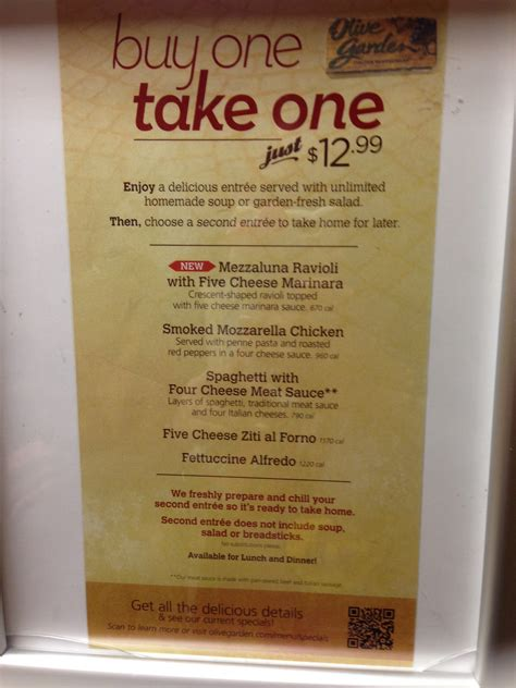 Take Me To Olive Garden by Buy One Take One Is Back At Olive Garden South Bay Foodies