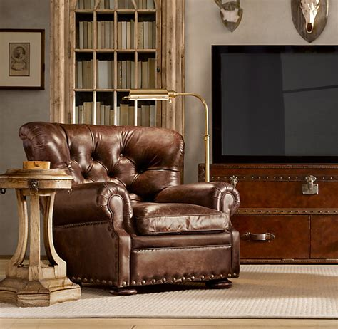 Restoration Hardware Recliner Churchill Leather Recliner Recliners Restoration Hardware Quot Momma Said Home Is Where The