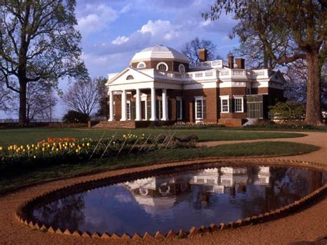 monticello s west front with fish pond jefferson