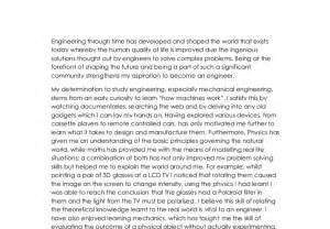 Electrical Engineering Career Essay by Personal Statement Exles In Business