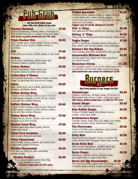 17 Bar Grill Menu Design Images Bar And Grill Menu Ideas Bar And Grill Menu Templates And Sports Bar Menu Template